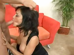 couch, wife, blowjob, pussy, cumshot