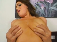 Nice natural boobs on ... video