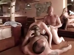 Group sex with mature ...