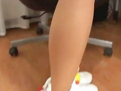 babes, office, blond, masturbating,