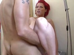 housewife, redhead, facial, blowjob,