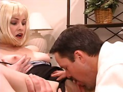 veronica snow,  couple, blonde, oral, blowjob, creampie,