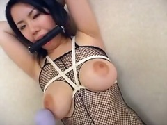 japanese, fishnets, dildo, masochism, fetish, torture, huge toy, sadistic, huge dildo, oriental