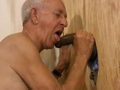 mature, sucking cock, gloryhole