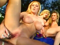 Alpha Porno Movie:Trio of hot blondes hang out p...