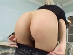 hardcore, fingering, blowjob, doggystyle, cute, blonde, skirt, small tits