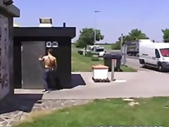 Public toilet amateur boy video