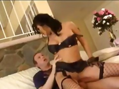 brunette, jizz, fingering, ass, fishnet, sucking, cumshot, asshole, lick, facial, oral, blowjob, anal