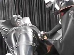 Nasty nurse covered in latex does a p...