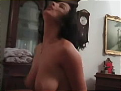 Seriously hot natural boobs on a cock rider