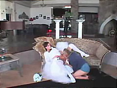 Bride eaten out by a hot blonde