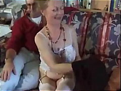 His mature wife strokes and sucks his...