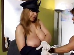 pornstar, gloves, uniform, milf