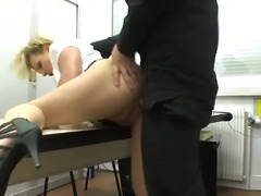 milf, blow, skirt, blowjob