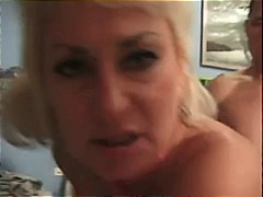 doggy-style, maid, blonde, hardcore, blowjob, mature, kitchen, mom, facial, cumshot