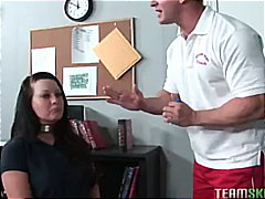 Big titty brunette schoolgirl gets he...