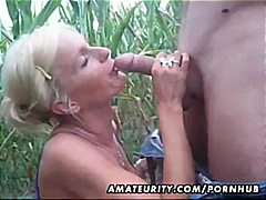 outdoor, blonde, blowjobs, cumshots, homemade, couple