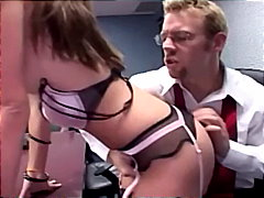 Office sex with petite secretary in a...