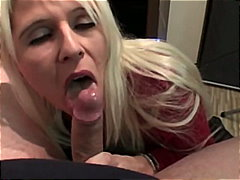 cougar, milf, big-tits, cumshot, old, busty, blow-job, mature, homemade, amateur, blonde