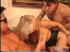 cumshot, mature, threesome, blonde
