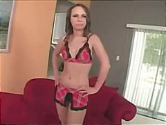 brunette begs for a creampie