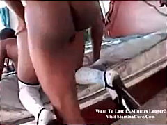 ebony, shaved, big-cock, ass,
