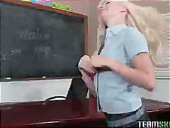 teacher, small-tits, blonde