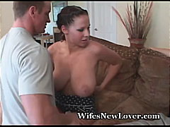 busty, orgasm, wife, 3some, facial,