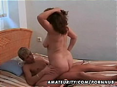 Mature amateur wife sucks and fucks w...
