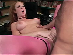 Audrey fucking in pink thigh high sto...