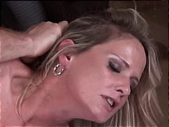 cumshot, mature, blonde, handjob,