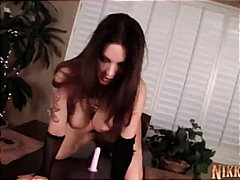 Nikki Nova Rides Her Toy and Cums all...