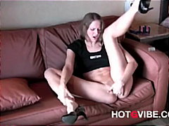 skinny, squirting, blonde, vibrator,
