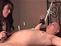 tied, rope, cuckolds, orgasm-denial, cock-sucking, chastity, lynn pleasant, training, bondage, male-chastity, tied-up, teasing-video.com