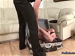 Flexible doll gets abused anal oral and in pussy hard