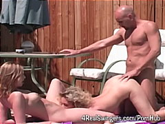 ffm, public, groupsex, blowjob