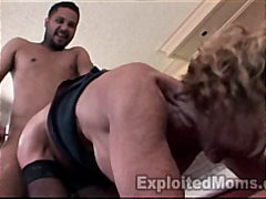 Mature School Teacher trains Young Bl...