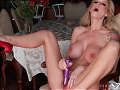 Brooke Banner having a screaming orgasm