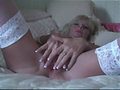 stockings, masturbation, fingering,
