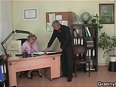 Office lady gives head and gets naile...