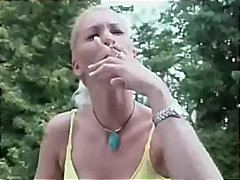 fetish, amateur, outdoor, homemade, smoking, blowjob, blonde