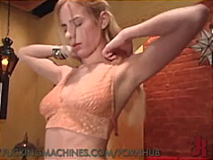 PornHub Movie:Blond newcomer primes herself,...