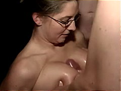 glasses, cumshot, blowjob, titty-fuck