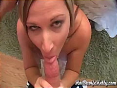 blow-job, blonde, facial, milf,