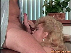 Thumb: Blonde girl blowing co...