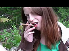 Ginger Emo Masturbates with cigar