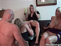 lesbian, blow-job, blonde, milf, pussy-licking, party, facial, cumshot, mature, big-tits, groupsex