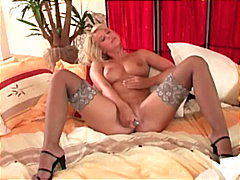 masturbation, toys, dildo, stocking,