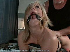 blowjob, tied, sexandsubmission.com, bondage, toys, fetish, blonde, vibrator