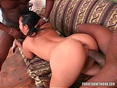 blow-job, anal, double-penetration, interracial, brunette, pornstarnetwork.com, busty, ass-fuck, large-dick, asain